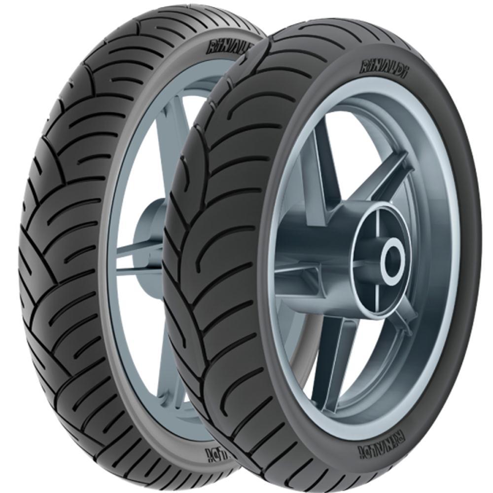 Par Pneu Cbx 250 Twister Fazer 250 130/70-17 + 100/80-17 Tl Hb37 Rinaldi