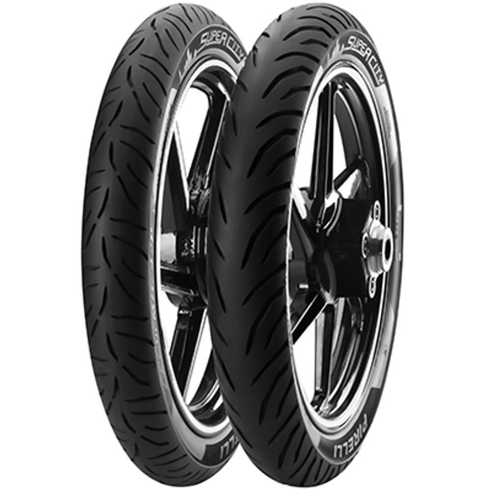 Par Pneu Cg125 Ybr125 90/90-18 + 275-18 Super City Pirelli