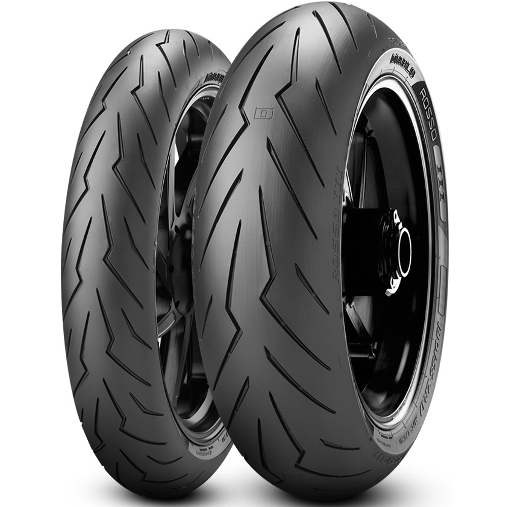 Par Pneu Ducati Diavel 240/45r17 + 120/70r17 Tl Diablo Rosso III Pirelli