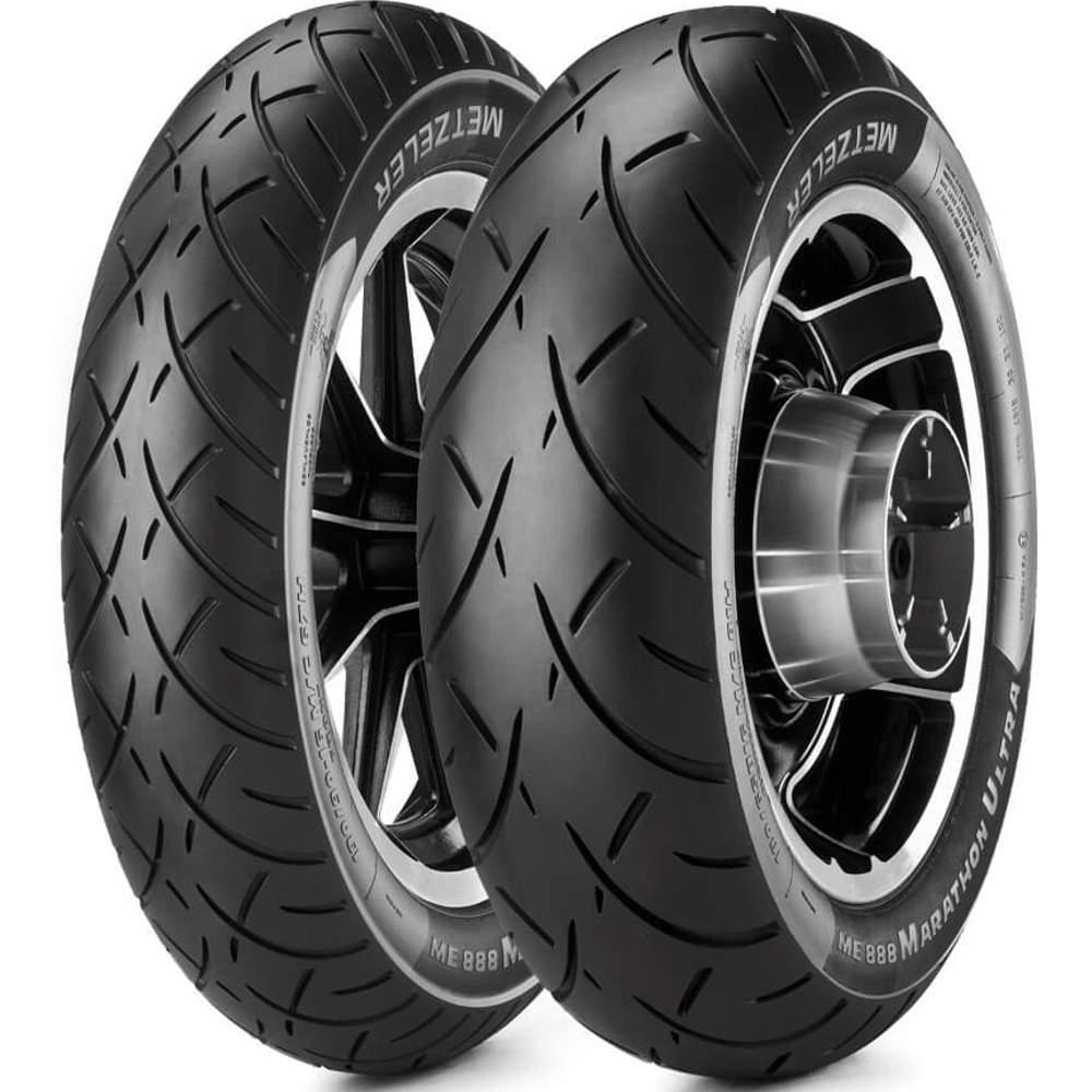 Par Pneu Harley-Davidson Road King Mt90/-B16 + 180/65b16 Tl Me888 Metzeler