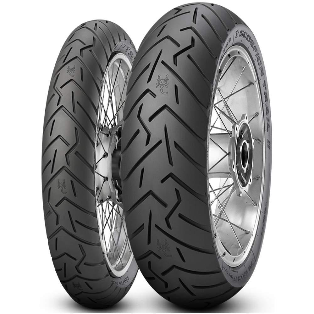 Par Pneu Nx400i Falcon Xt660r 130/80r17 + 90/90-21 Scorpion Trail 2 Pirelli