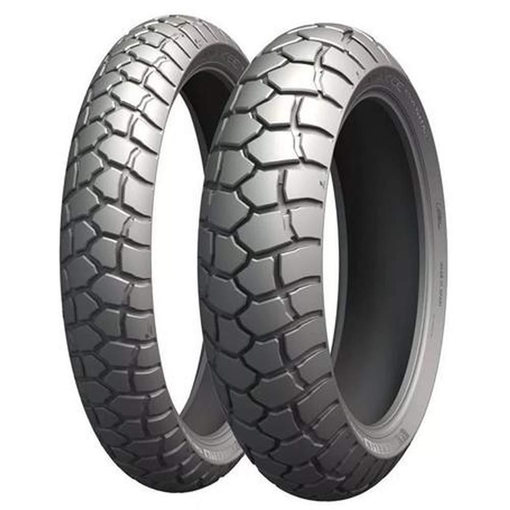 Par Pneu Tiger 800 Xc F 800 Gs 150/70r17 + 90/90-21 Tl Anakee Adventure Michelin