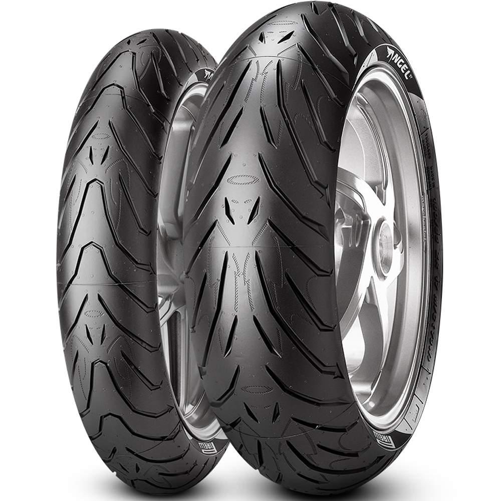 Par Pneus Cb 650 F Mt-07 180/55r17 + 120/70r17 Angel St Pirelli