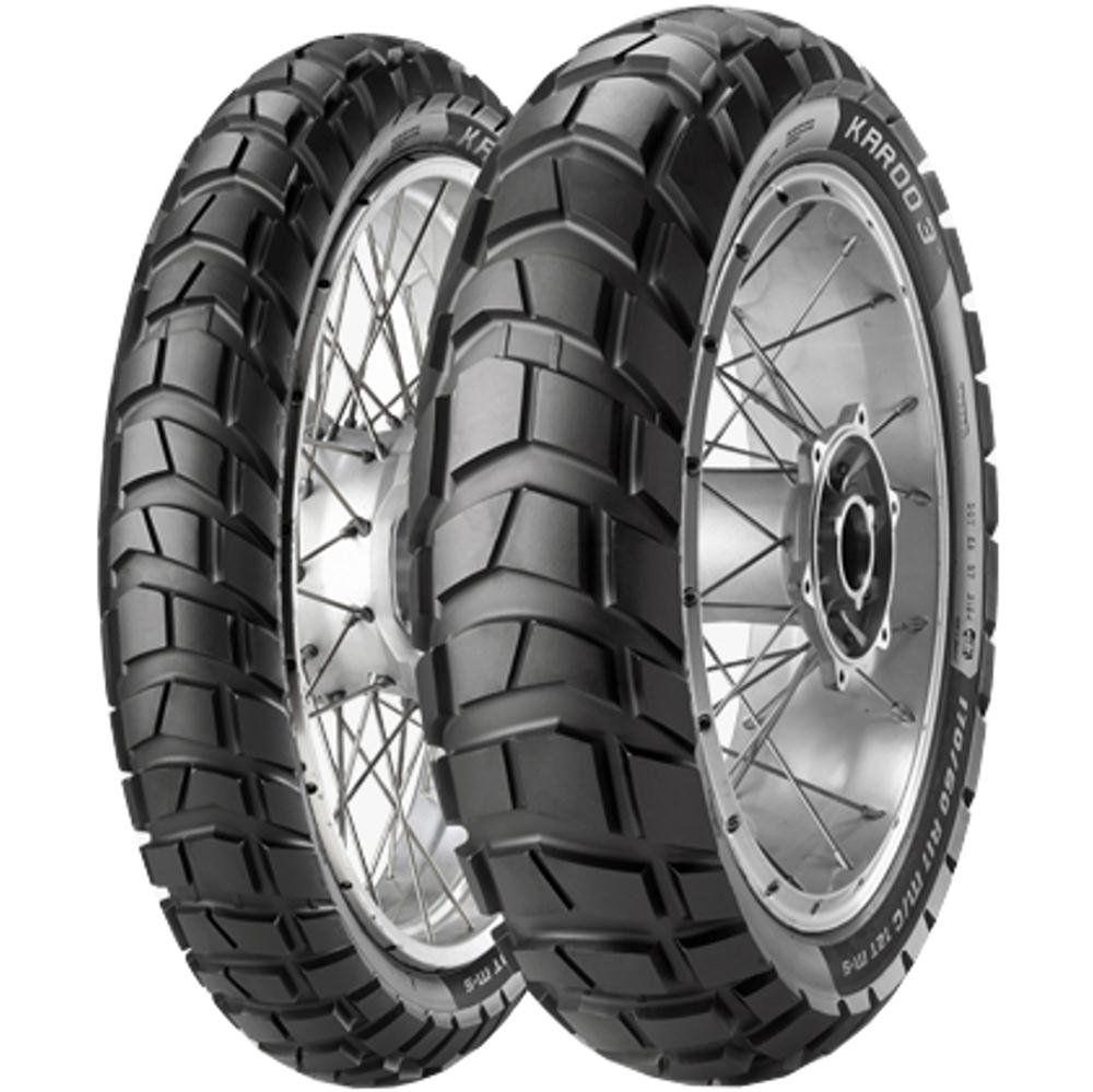 Par Pneu Bmw 650 Gs Versys-X 300 140/80-17 + 110/80-19 Karoo3 Metzeler