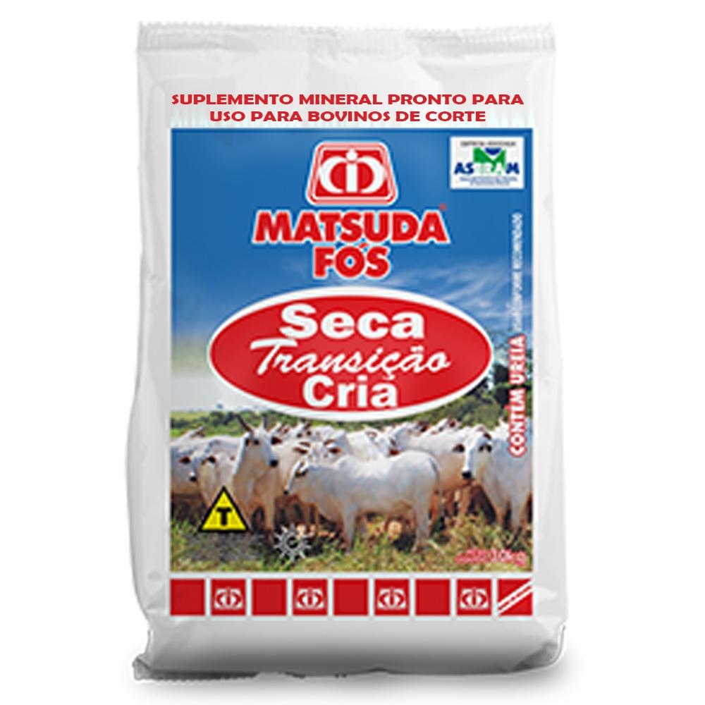 Suplemento Mineral Para Bovinos e Gado de Corte Cria Fós Seca Transição Cria Matsuda