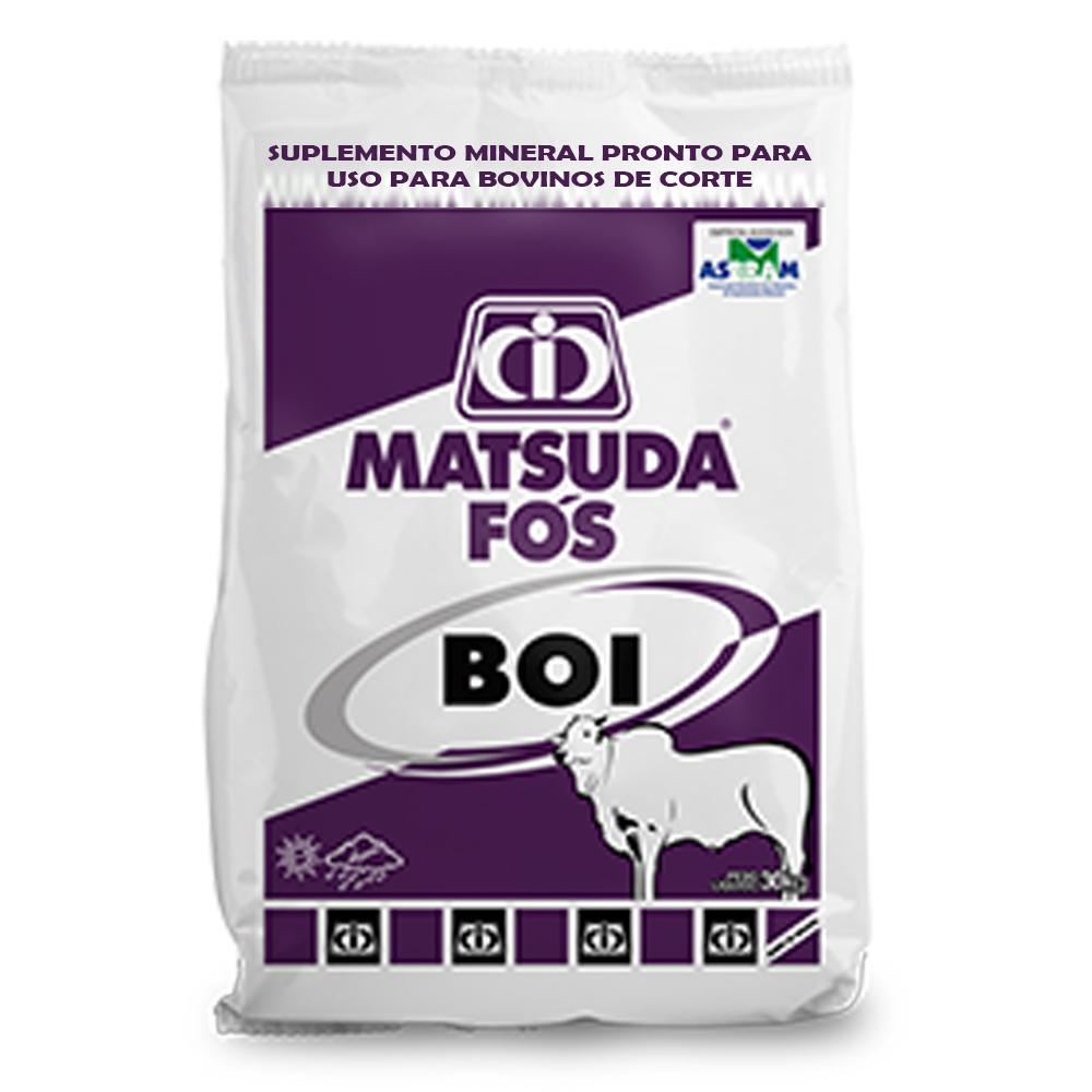 Suplemento Mineral Para Bovinos e Gado de Corte Engorda Fós Boi Matsuda