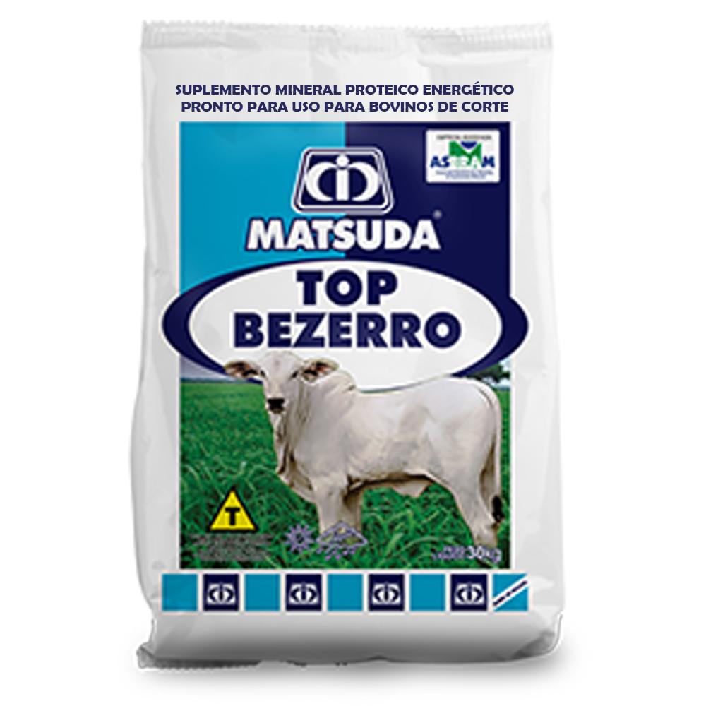 Suplemento Mineral Proteico Energético Para Bovinos e Gado de Corte Bezerro em Amamentação Top Bezerro Matsuda