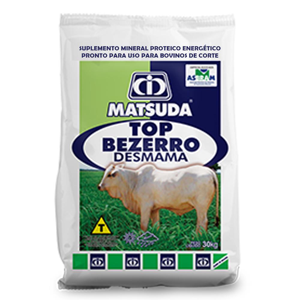 Suplemento Mineral Proteico Energético Para Bovinos e Gado de Corte Bezerro em Amamentação Top Bezerro Desmama Matsuda