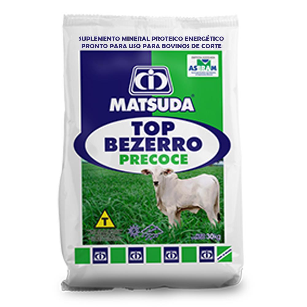 Suplemento Mineral Proteico Energético Para Bovinos e Gado de Corte Bezerro em Amamentação Top Bezerro Precoce Matsuda