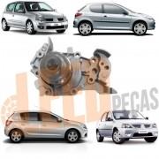 Bomba D´Água Motores 1.0 16v Peugeot 206 2001 2002 2003 2004 2005 Clio 2000 2001 2002 2003 2004 2005 Sandero Logan Kangoo Twingo