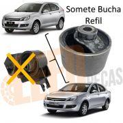 Bucha Refil Coxim Esquerdo Motor Jac J3 2011 2012 2013 2014 2015 2016