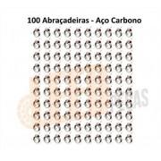 KIT 100 ABRAÇADEIRA.ROSCA SEM FIM AÇO CARBONO 32X44=1.1/4X1.3/4