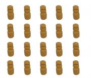 Kit 20 Batente Amortecedor Traseiro Gol 1980 1981 1982 1983 1984 1985 1986 1987 1988 1989 1990 1991 1992 1993 1994 Parati 1988 1989 1990 1991 1992 1993 1994 Saveiro 1986 a 1994 Voyage 1991 a 1995