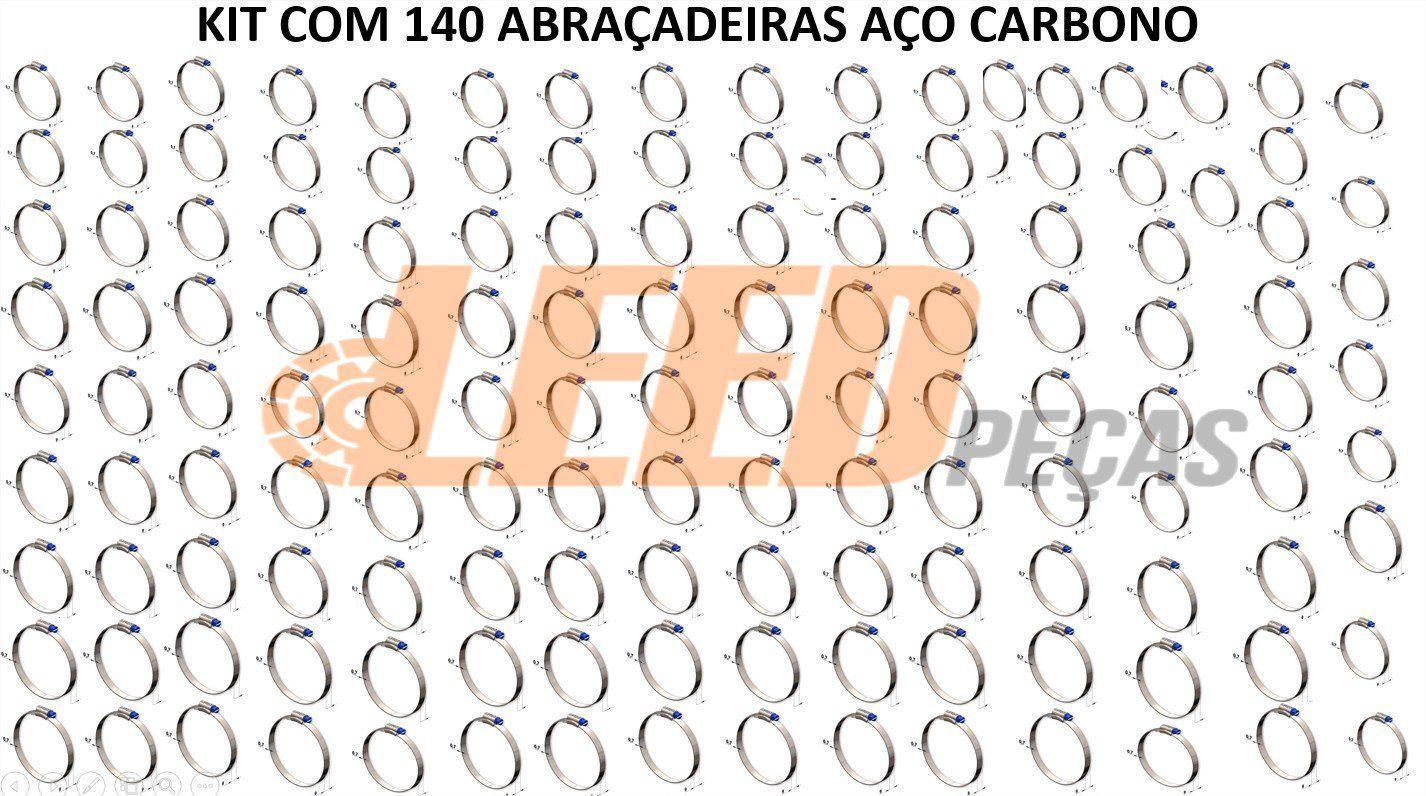ABRAÇADEIRA ROSCA SEM FIM AÇO CARBONO 140X159=5 1/2X6 1/4