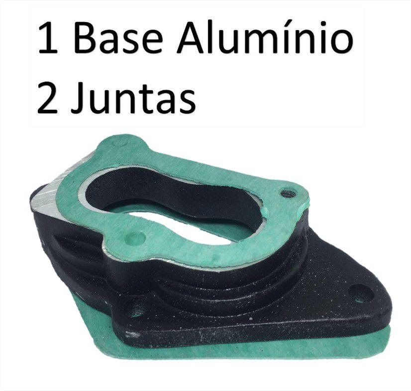 Base Flange Carburação Carburador Brosol 2e 3e Com Junta