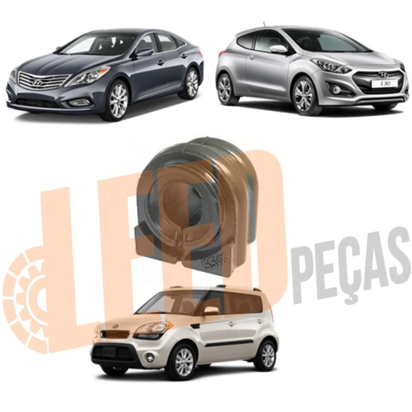 Bucha Barra Estabilizadora Dianteira Hyundai Azera 3.0 2012 2013 2014 2015 2016 2017 I30 2012 2013 2014 2015 2016 Kia Soul 2015 2016 2017 2018 2019 (20mm)