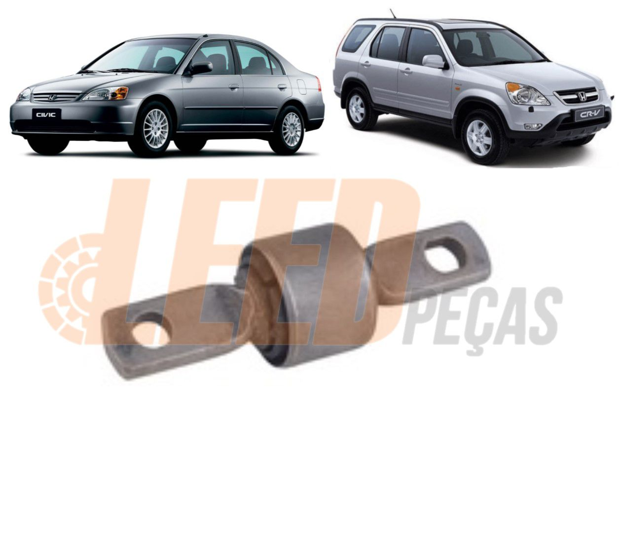 Bucha Braco Superior Suspensao Traseira Civic 2001 2002 2003 2004 2005 CRV 2002 2003 2004 2005 42,2mm