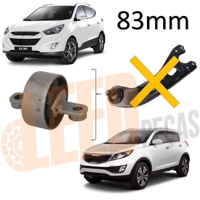 Bucha Braço Tensor Suspensão Traseira Hyundai Ix35 Kia Sportage 2009 2010 2011 2012 2013 2014 2015 2016 2017 83mm