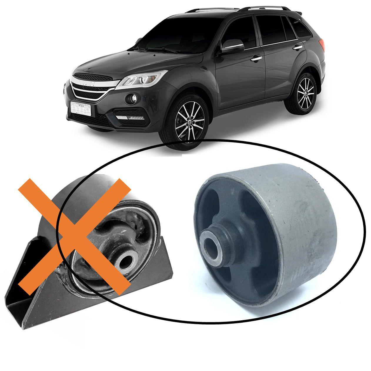 Bucha Refil Calço Coxim Dianteiro Frontal Motor Lifan X60 2013 2014 2015