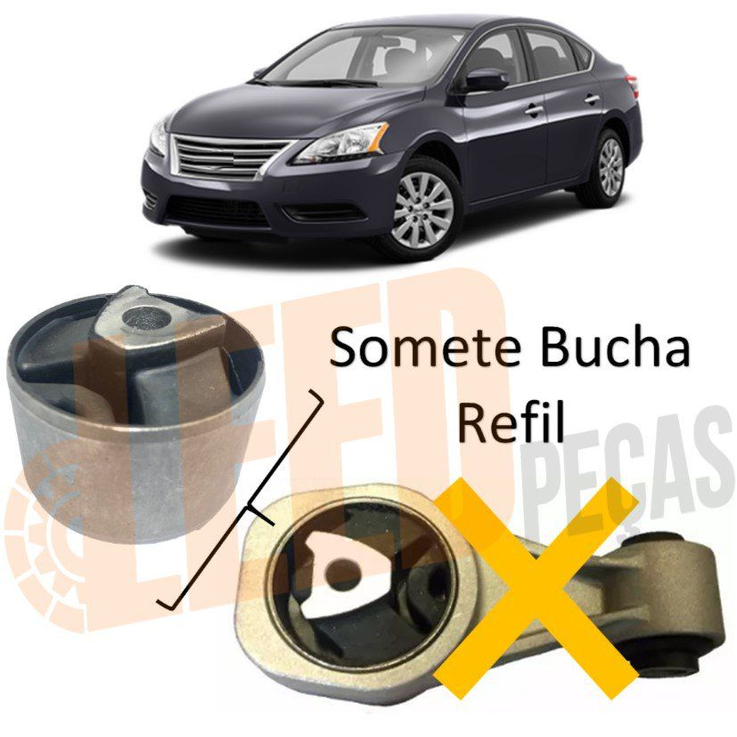 Bucha Refil Coxim Direito Câmbio Nissan Sentra 2014 2015 2016 2017 2018 2019 Biela