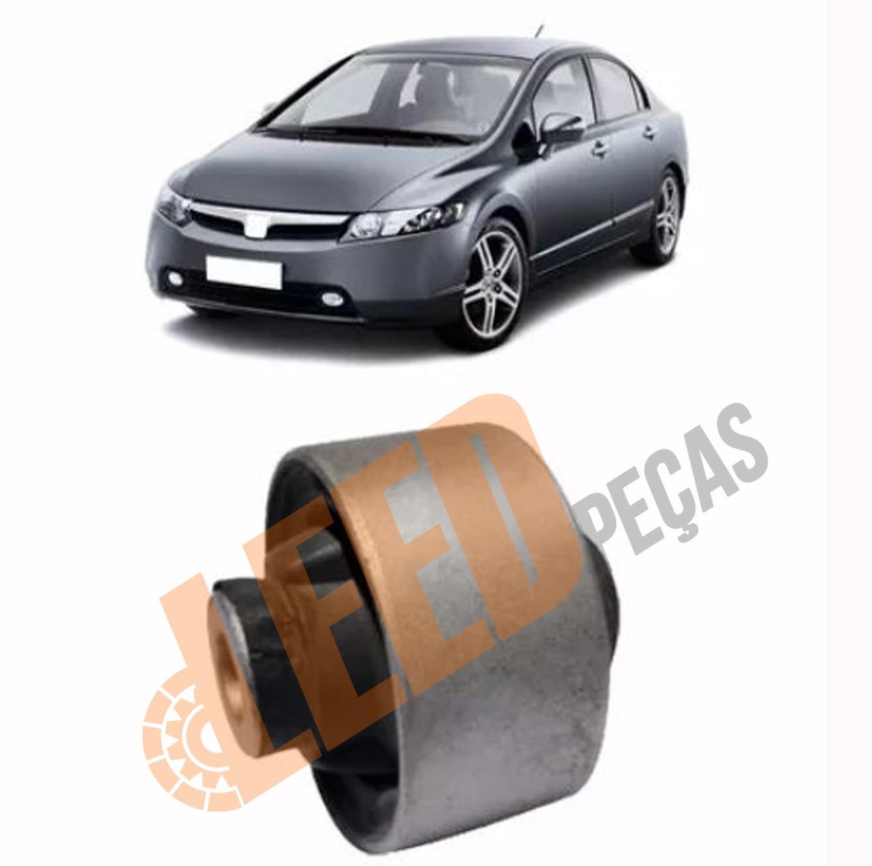 Bucha Traseira Bandeja Dianteira Honda Civic 2001 2002 2003 2004 2005 2006 New Civic 2007 em diante Maior