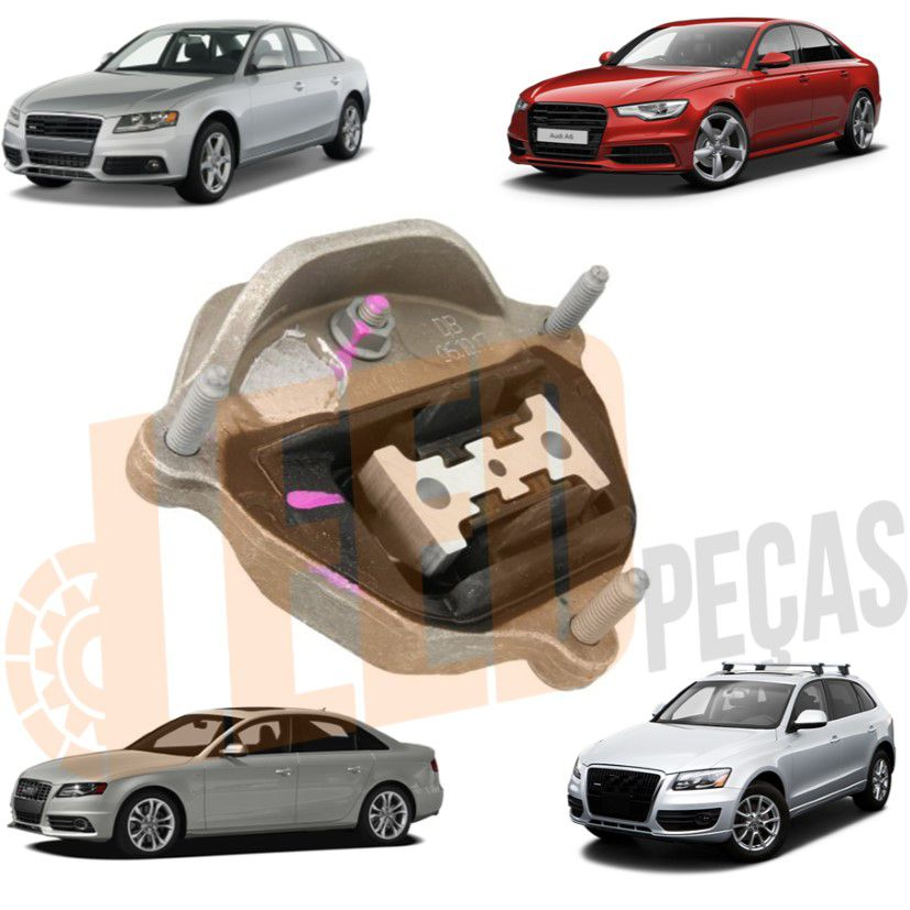 Calço Coxim Dianteiro Esquerdo Motor Audi A4 2011 2012 A5 2010 2011 2012 A6 2012 em diante Q5 2009 2010 2011 2012 S4 2010 2011 2012 S5 2008 2009 2010 2011 2012