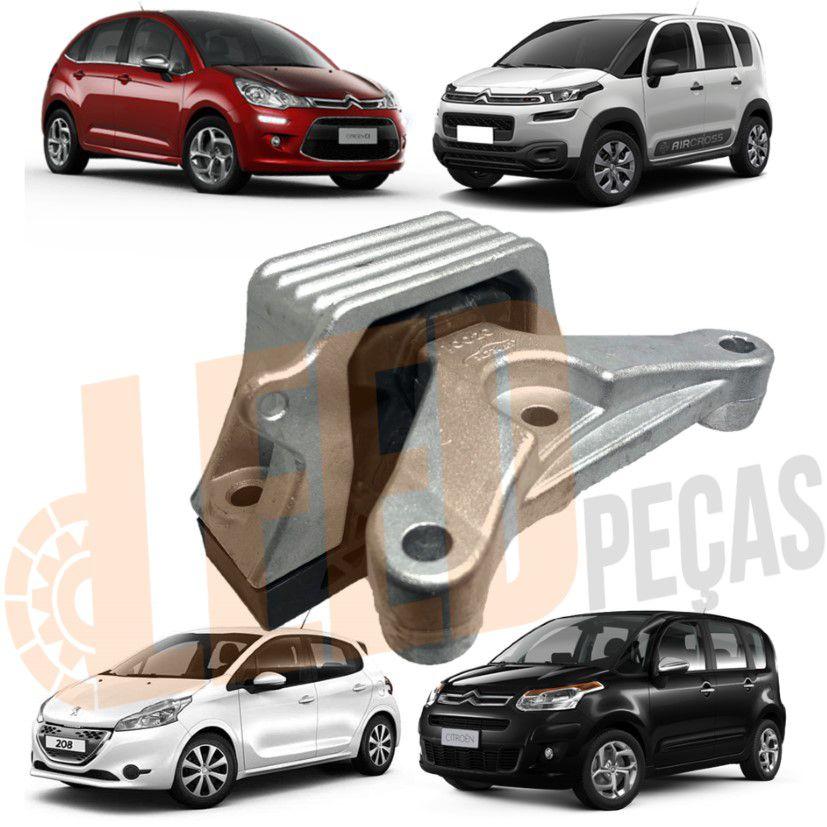 Calço Coxim Direito Motor Citroen C3 1.4 8V C3 Picasso Aircross 1.4 Peugeot 208 1.5 8V 2012 2013 2014 2015 2016 2017 2018 2019