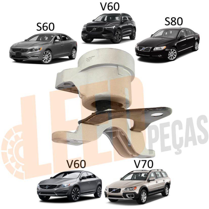 Calço Coxim Direito Motor Volvo XC60 2009 2010 2011 2012 2013 2014 2015 2016 2017 S60 2009 2010 2011 2012 2013 S80 2007 2008 2009 2010 2011 2012 2013 V60 2011 2012 2013 V70 2011 2012 2013