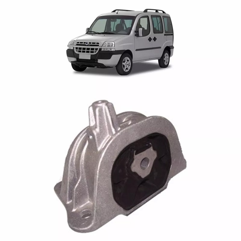 Coxim Motor Dianteiro Doblo 2002 2003 2004 2005 2006 2007 2008 2009 2010 Aluminio