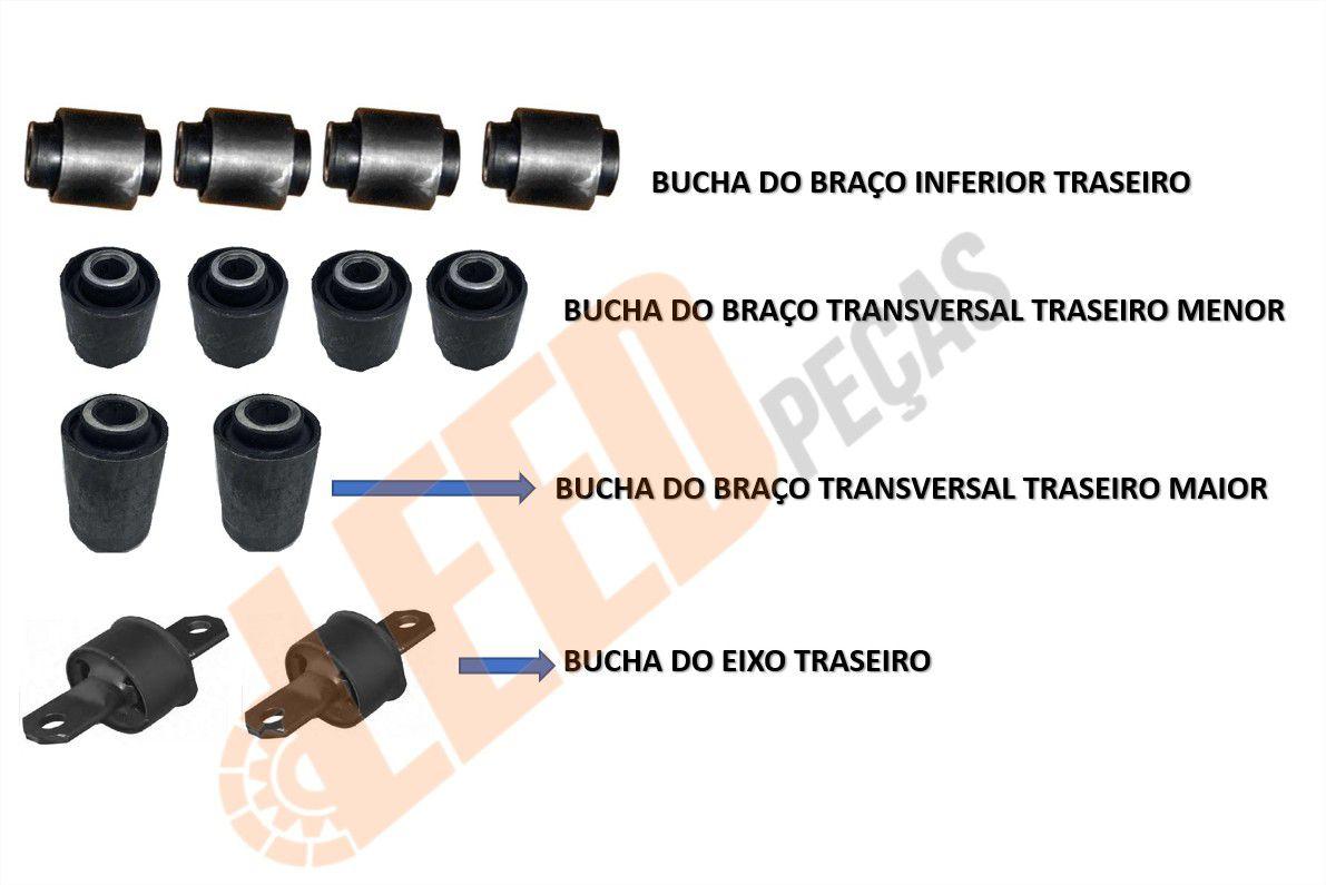 Jogo de Buchas suspensão Traseira Focus 1999 a 2012
