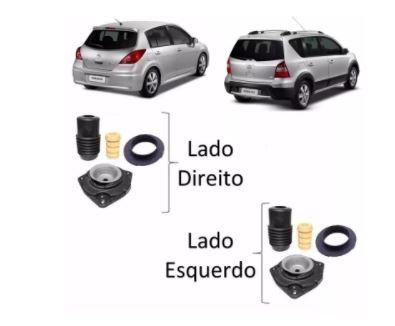 Kit Batente Coifa Coxim Amortecedor Dianteiro Tiida Livina