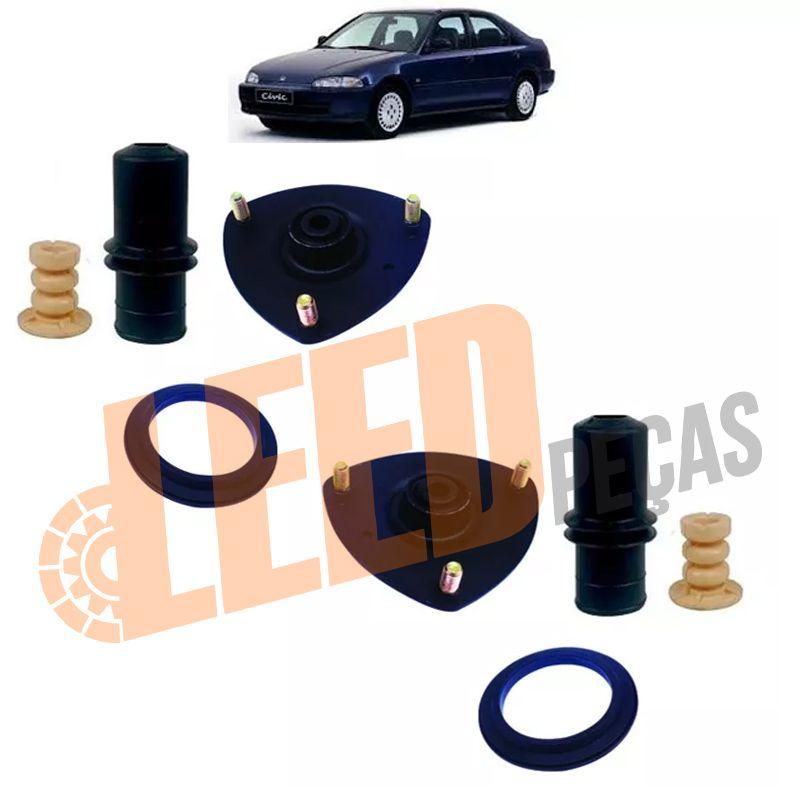 Kit Duplo Completo Amortecedor Dianteiro Civic 1992 1993 1994 1995 1996 1997 1998 1999 2000 2001
