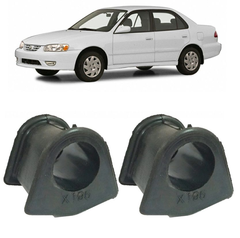 Kit Bucha Barra Estabilizadora Dianteira Corolla 1998 1999 2000 2001 2002 (19,5mm)