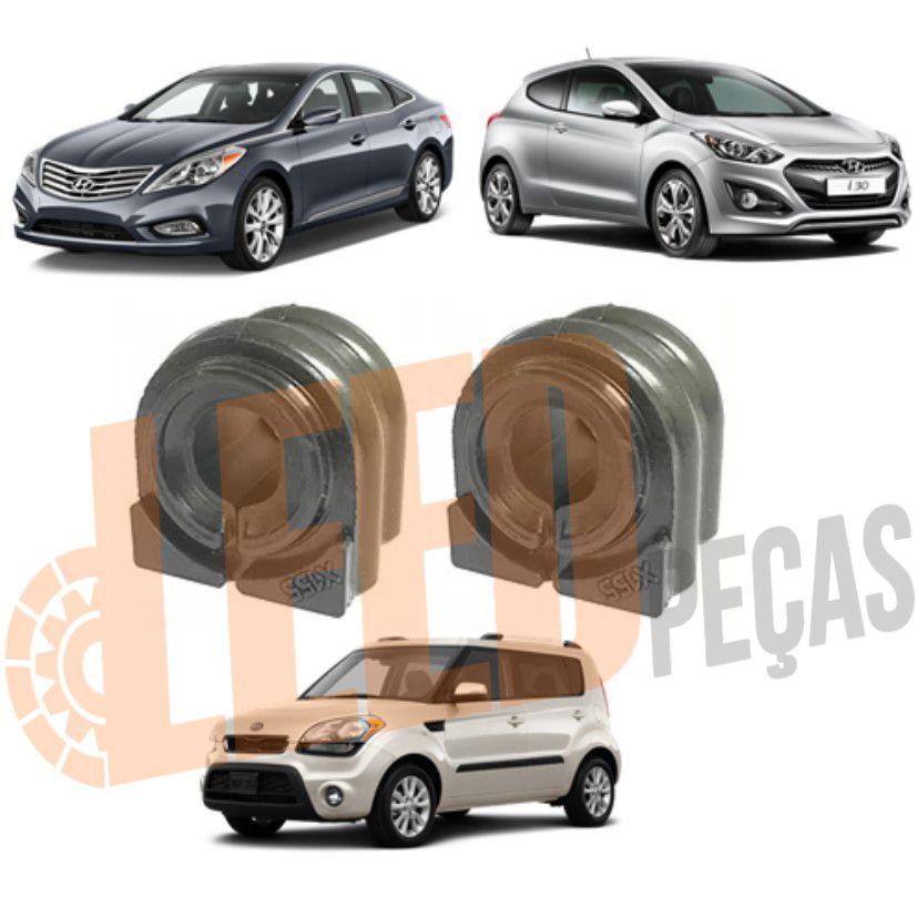 Kit Bucha Barra Estabilizadora Dianteira Hyundai Azera 3.0 2012 2013 2014 2015 2016 2017 I30 2012 2013 2014 2015 2016 Kia Soul 2015 2016 2017 2018 2019 (20mm)