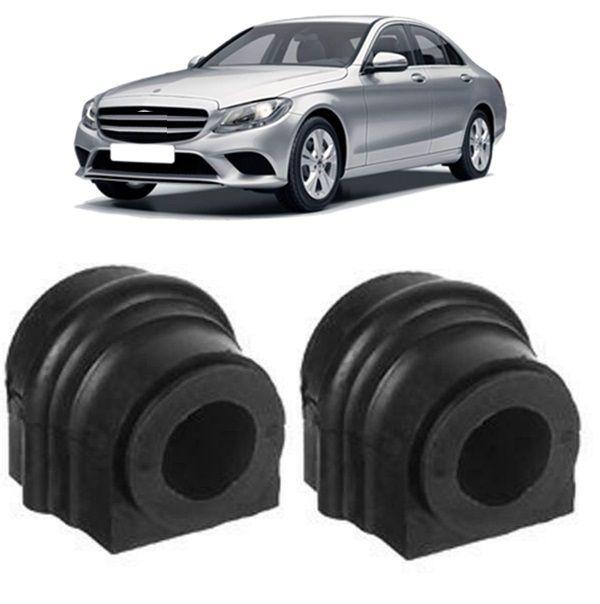 Kit Bucha Barra Estabilizadora Dianteira Mercedes C180 Serie W203 C220 C240 C320 (21mm)