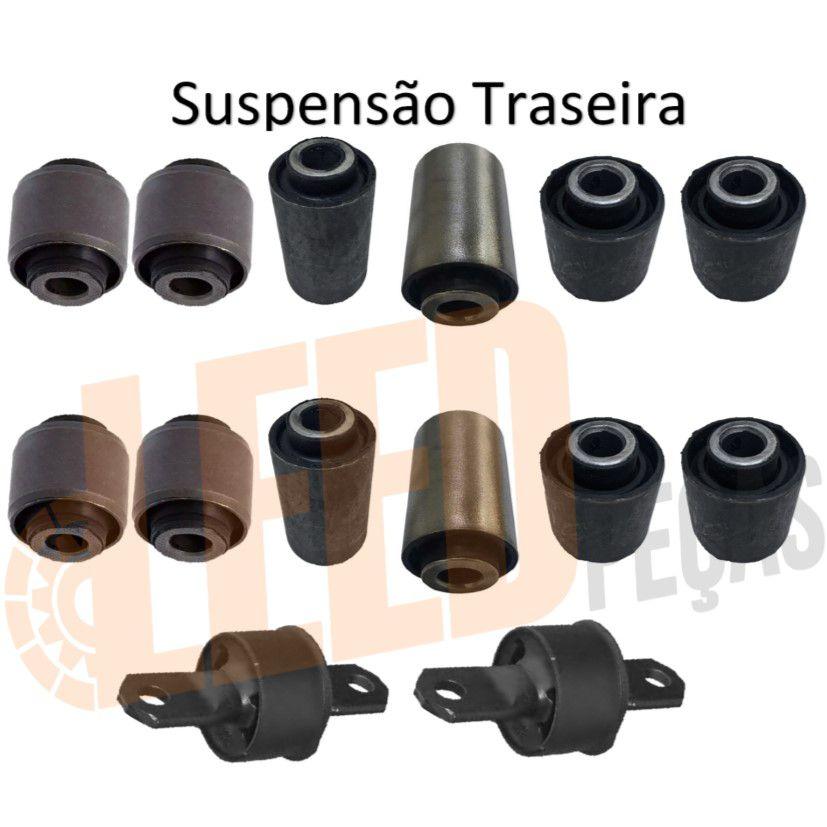 Kit Bucha Braço Eixo suspensão Traseira Focus 1999 a 2012