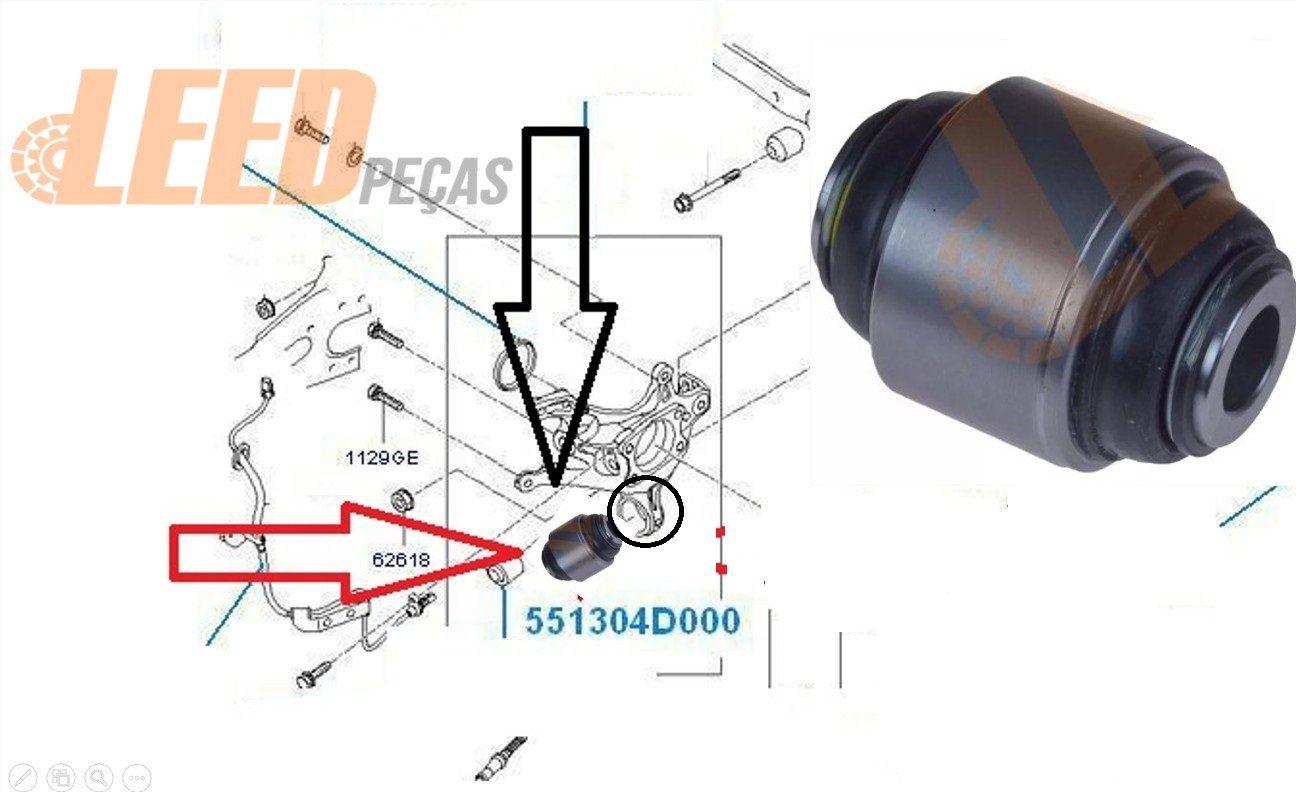 Kit Bucha Braço Oscilante Eixo Traseiro I30 / Cerato 200 2008 2009 2010 2011 2012 Sorento Cadenza Sonata Vera Cruz Optima