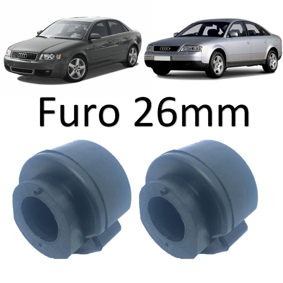 Kit Bucha Estabilizadora Dianteira Audi A4  1995 1996 1997 1998 1999 2000 A6 1997 1998 1999 2000  2001 2002 A8 1995/...Q5 2009/...Ø26Mm