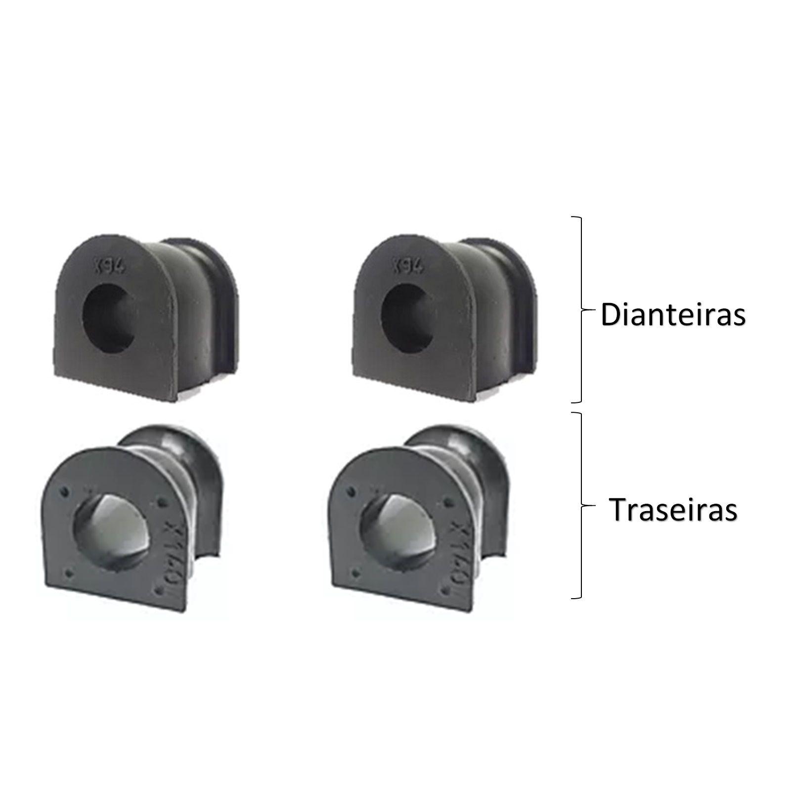 Kit Bucha Estabilizadora Dianteira Traseira CRV 2007 2012