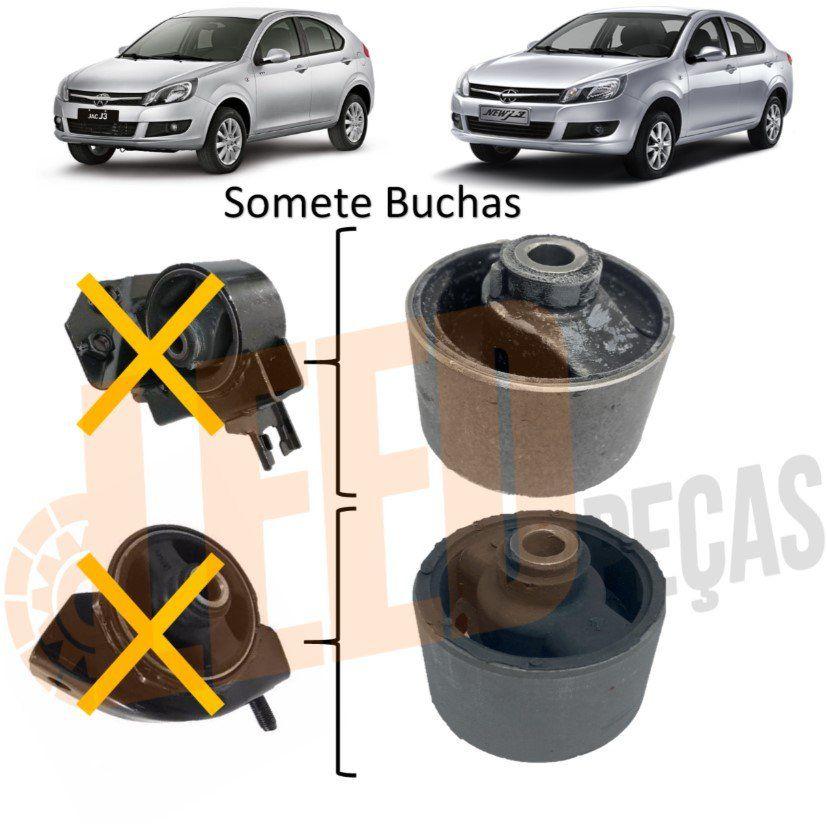 Kit Bucha Refil Coxim Esquerdo Traseiro Motor Jac J3 2011 - 2016
