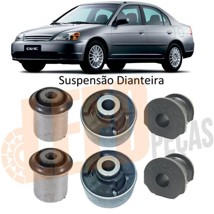 Kit Buchas Suspensão Dianteira Civic 2003 2004 2005
