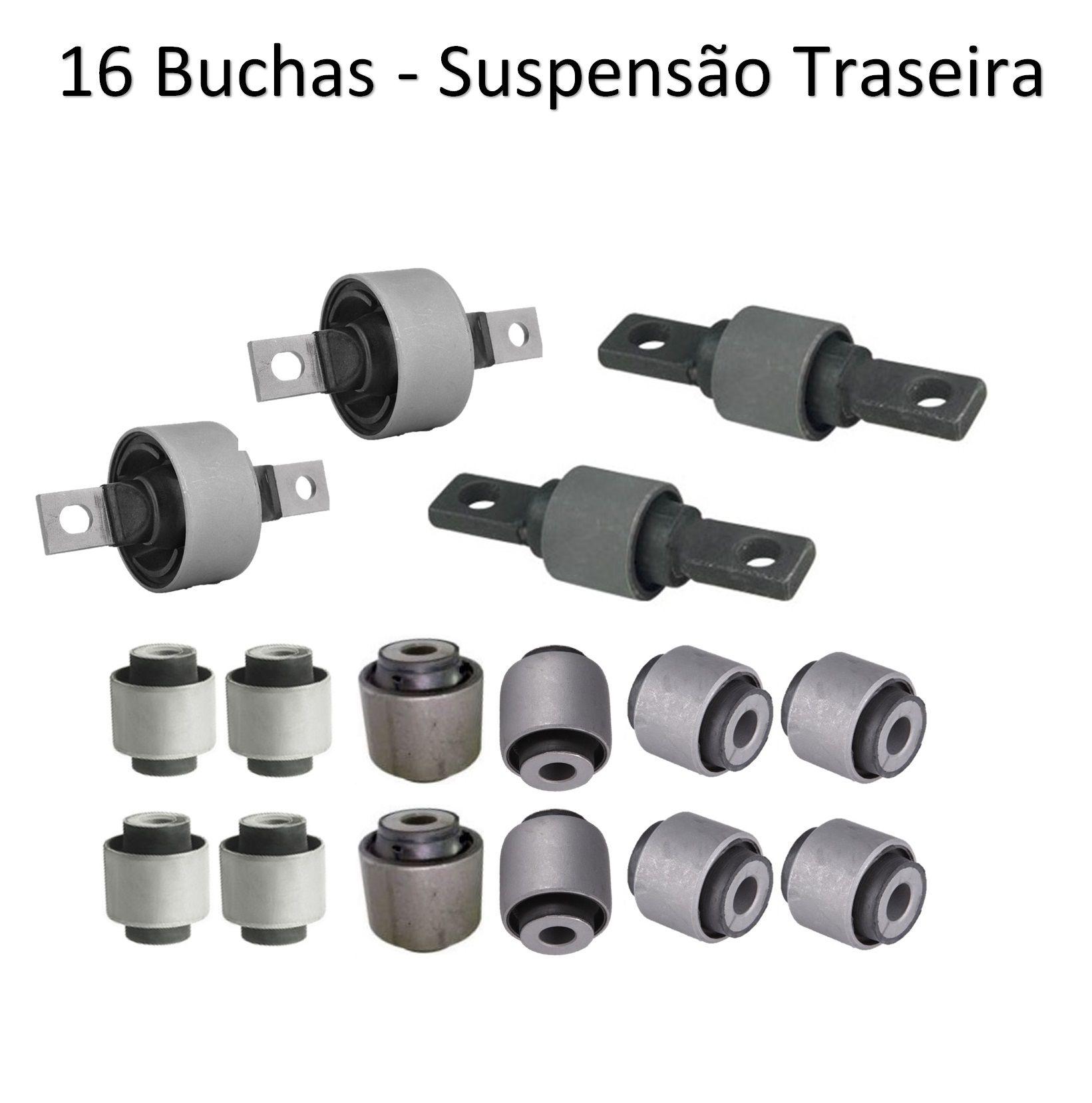 Kit Buchas Suspensão Dianteira Traseira Civic 1996 - 2000