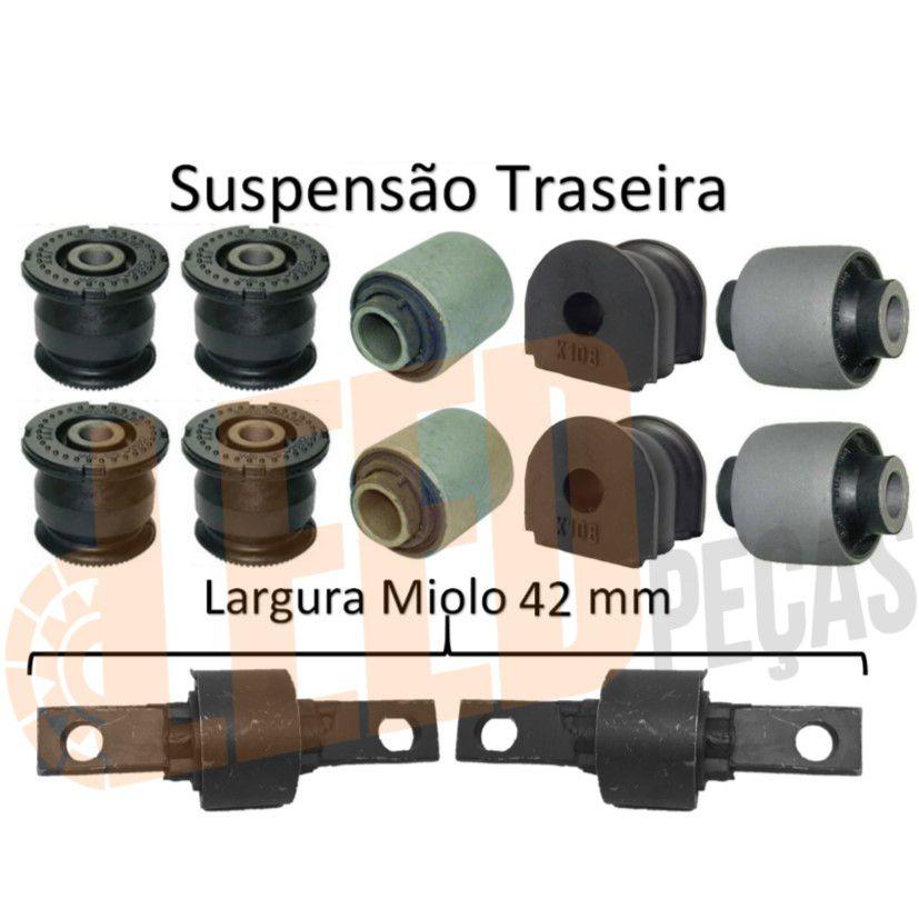 Kit Buchas Suspensão Dianteira Traseira Civic 2001 - 2005