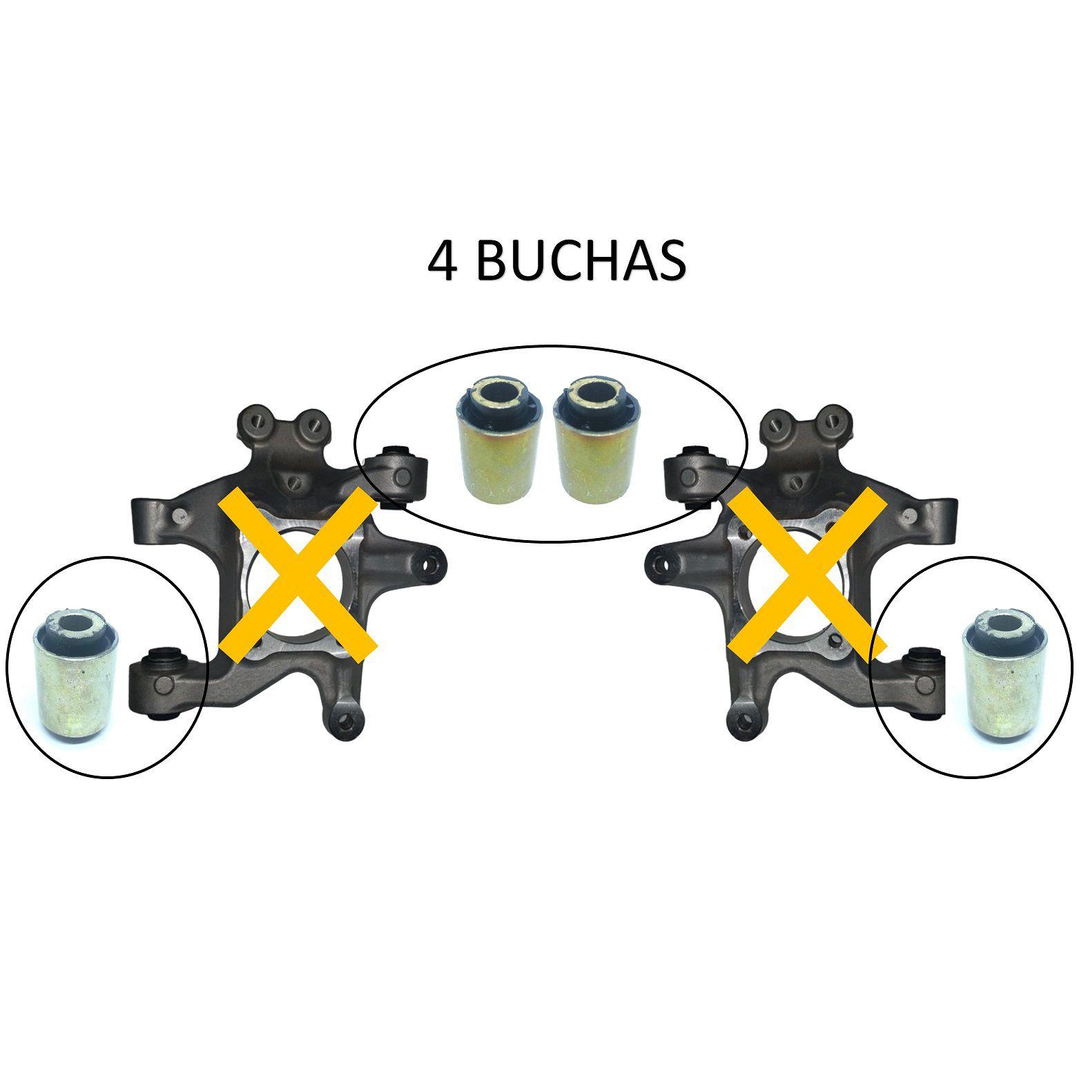 Kit Buchas Suspensão Traseira Captiva 2008 2009 2010 2011 2012 2013 2014 2015