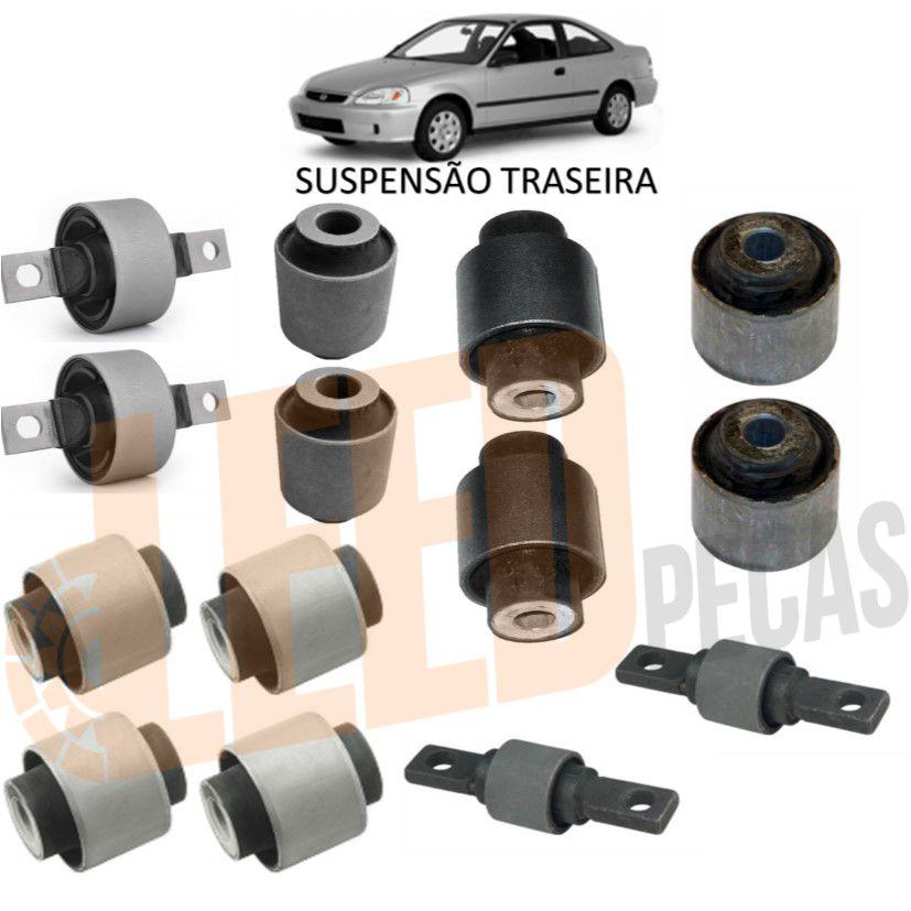 Kit Buchas Suspensão Traseira Civic 1992 1993 1994 1995