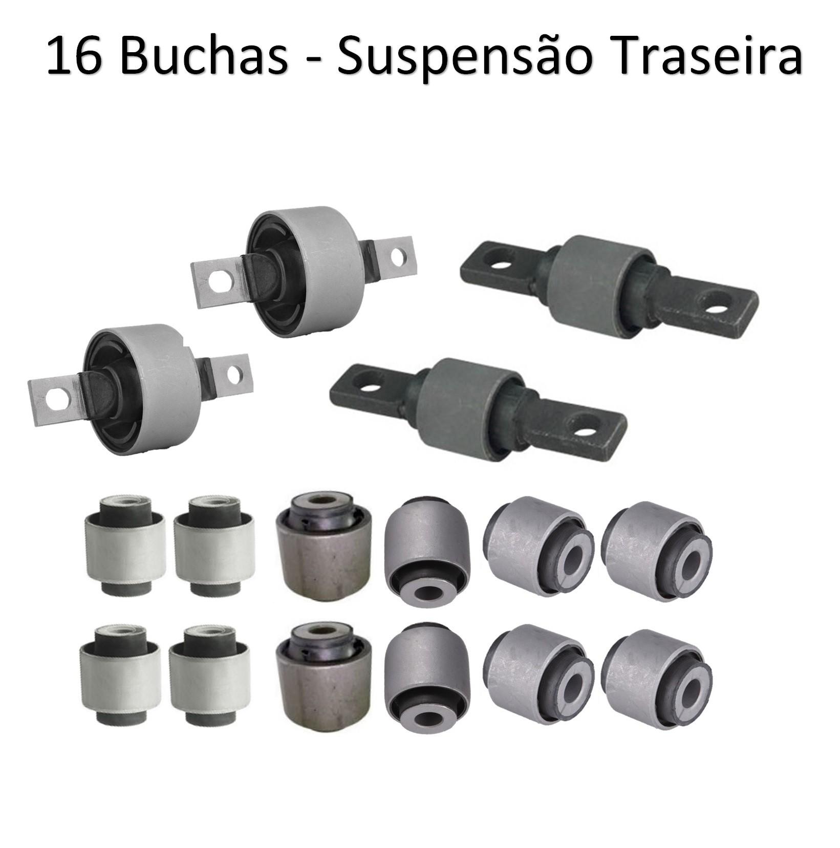 Kit Buchas Suspensão Traseira Civic 1996 1997 1998 1999 2000