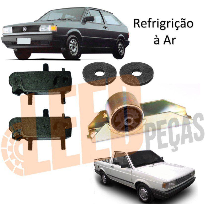 Kit Calço Coxim Motor Traseiro Câmbio Gol 1.3 1.6 80/86 Saveiro 1.3 1.6 80/86