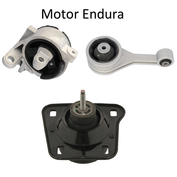 Kit Calço Coxim Traseiro Motor Endura Cambio Fiesta Courier