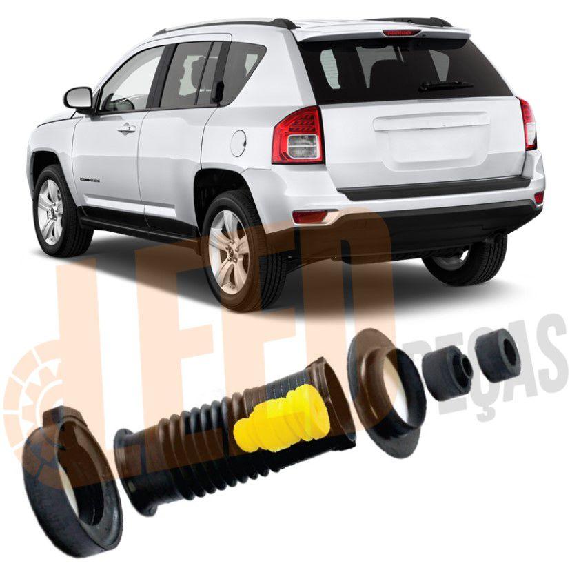 Kit Completo Amortecedor Traseiro Rolamento Jeep Compass 2012 2013 2014 2015