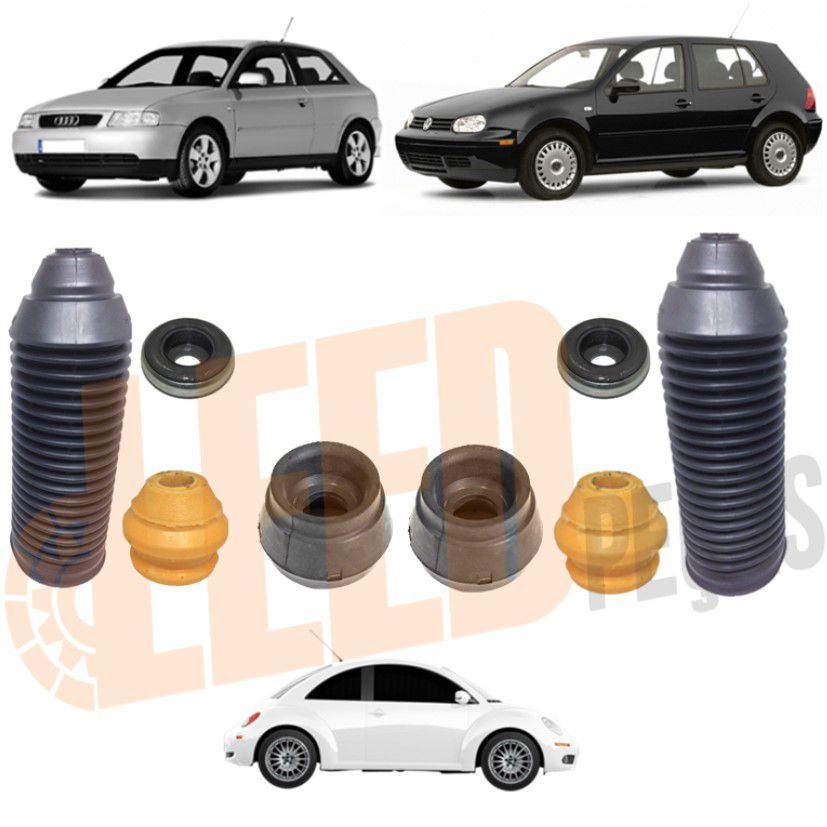 Kit Coxim Amortecedor Dianteiro Audi A3 1999 2000 2001 2002 2003 Golf GL GLX GTI 1998 1999 2000 2001 2002 2003 New Beetle 1998 1999 2000 2001 2002 2003 2004 2005 2006 2007 2008 2009 2010 Bora 2001 200